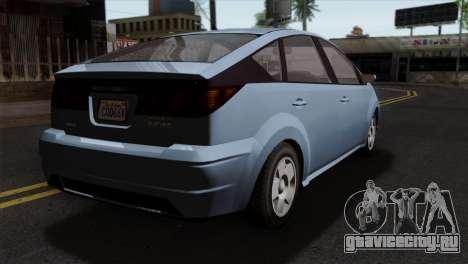 GTA 5 Karin Dilettante SA Mobile для GTA San Andreas вид слева