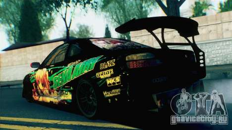 Nissan Silvia S15 Itasha для GTA San Andreas вид слева