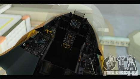 F-16A Netz для GTA San Andreas вид сзади