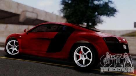 Audi R8 V10 v1.0 для GTA San Andreas вид слева
