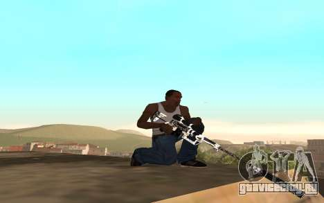 Skeleton Weapon Pack для GTA San Andreas третий скриншот