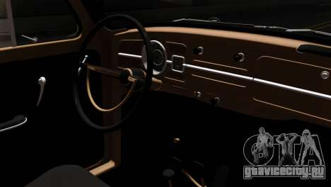 Volkswagen Beetle для GTA San Andreas вид справа