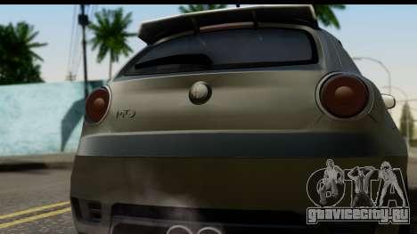 Alfa Romeo Mito Tuning для GTA San Andreas вид справа