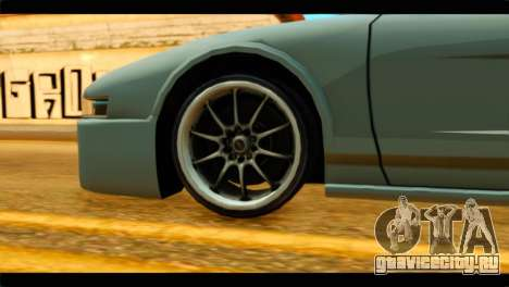 Infernus Rapide GTS Stock для GTA San Andreas вид сзади слева