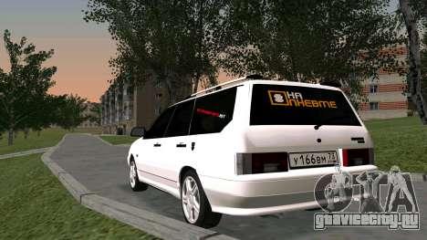 ВАЗ 2115 Универсал БПАN для GTA San Andreas вид изнутри