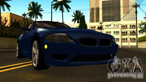 BMW Z4M Coupe 2008 для GTA San Andreas вид изнутри