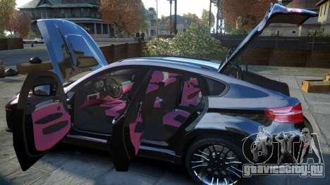 HAMANN BMW X6 2011 Tycoon EVO M v1.0 TSE для GTA 4 вид сверху