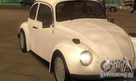 Volkswagen Beetle 1984 для GTA San Andreas вид сзади слева