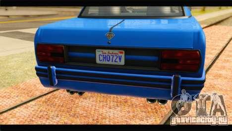 GTA 5 Benefactor Glendale Special для GTA San Andreas вид сзади
