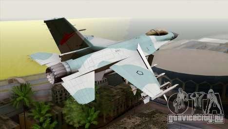 F-16C TNI Angkatan Udara для GTA San Andreas вид слева