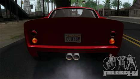 GTA 5 Grotti Stinger GT v2 IVF для GTA San Andreas вид сзади