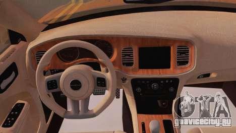 Dodge Charger SRT8 2012 Stock Version для GTA San Andreas вид сзади