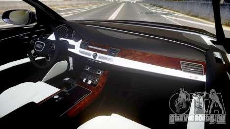 Audi A8 L 2015 Chinese style для GTA 4 вид сзади