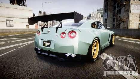 Nissan GT-R R35 Rocket Bunny [Update] для GTA 4 вид сзади слева