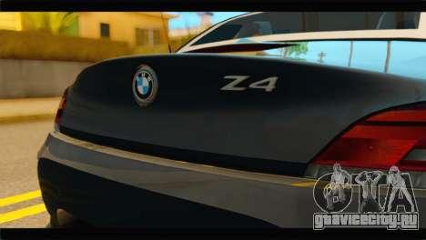 BMW Z4 sDrive35is 2011 для GTA San Andreas вид сзади