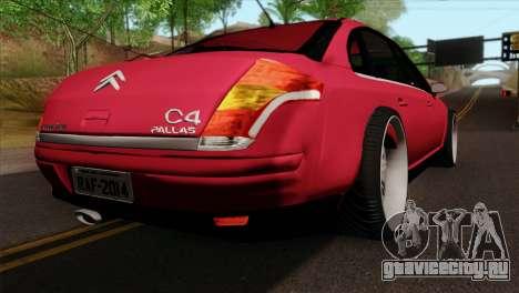 Citroen C4 Sedan для GTA San Andreas вид слева