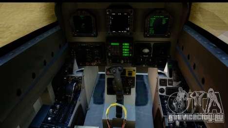 FA-18D VFA-103 Jolly Rogers для GTA San Andreas вид изнутри