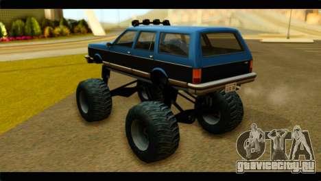 Monster Regina для GTA San Andreas вид слева