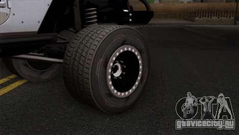Jeep Wrangler 2013 Fast & Furious Edition для GTA San Andreas вид сзади слева