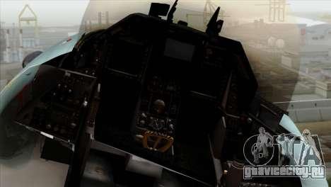 F-16C TNI Angkatan Udara для GTA San Andreas вид сзади