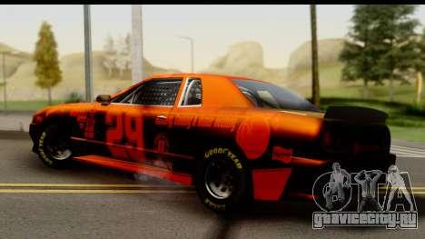 Elegy NASCAR для GTA San Andreas вид сзади слева