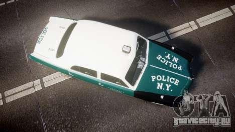 Ford Custom Fordor 1949 New York Police для GTA 4 вид справа