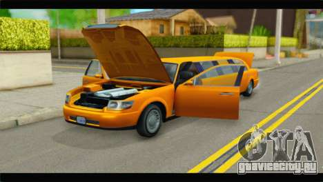 GTA 5 Dundreary Stretch для GTA San Andreas вид сзади