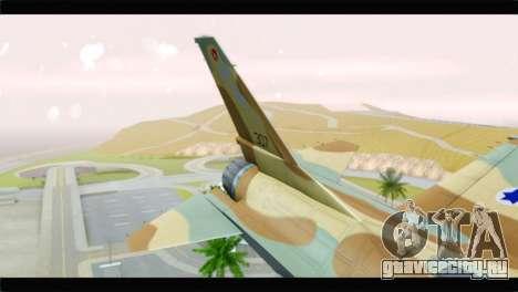 F-16A Netz для GTA San Andreas вид сзади слева