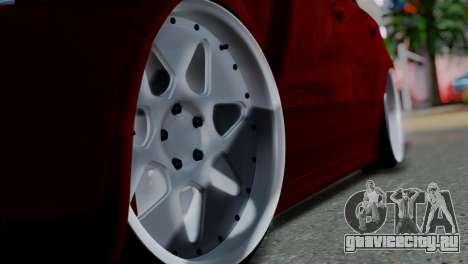 Volkswagen Jetta Stance для GTA San Andreas вид сзади