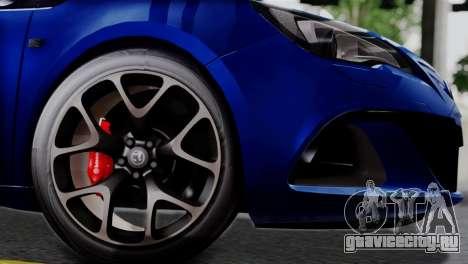 Vauxhall Astra VXR 2012 для GTA San Andreas вид справа