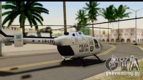 MBB Bo-105 Argentine Police для GTA San Andreas вид слева