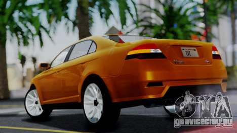 Vapid Interceptor v2 SA Style для GTA San Andreas вид слева
