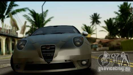 Alfa Romeo Mito Tuning для GTA San Andreas вид сзади слева