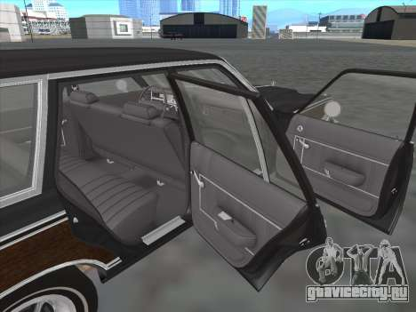 Plymouth Volare Wagon 1976 wood для GTA San Andreas вид изнутри