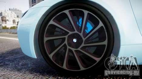 BMW i8 2013 для GTA 4 вид сзади