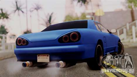 Elegy Full Customizing для GTA San Andreas вид слева