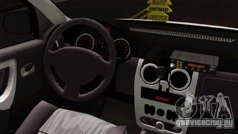 Dacia Logan Taxi для GTA San Andreas вид справа