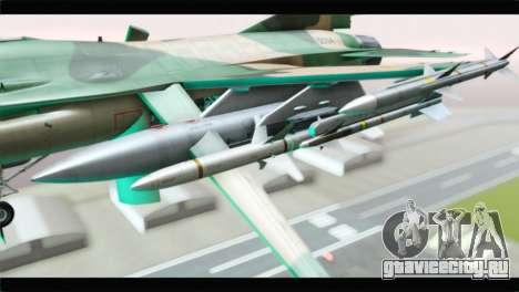 F-16A Fuerza Aerea Venezolana для GTA San Andreas вид справа