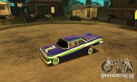 Luni Voodoo для GTA San Andreas салон