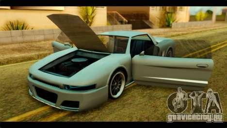 Infernus Rapide S для GTA San Andreas вид справа