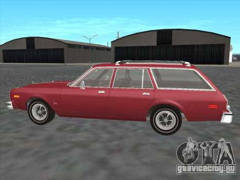 Plymouth Volare Wagon 1976 для GTA San Andreas вид слева