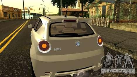 Alfa Romeo Mito Tuning для GTA San Andreas вид сверху