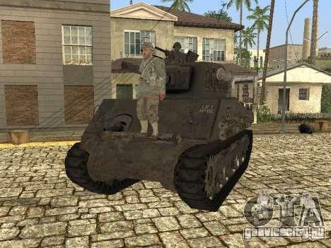 Танк M4 Sherman для GTA San Andreas вид сзади слева