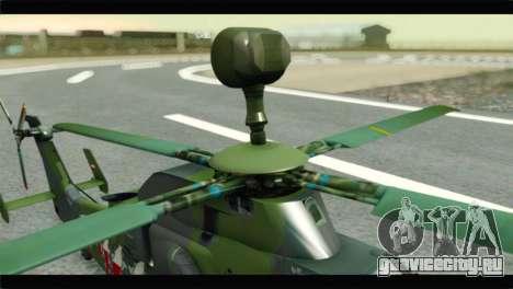 Eurocopter Tiger Polish Air Force для GTA San Andreas вид сзади