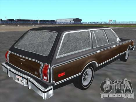 Plymouth Volare Wagon 1976 wood для GTA San Andreas вид сзади слева