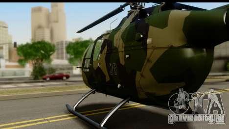 MBB Bo-105 Army для GTA San Andreas вид сзади слева