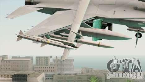 F-16C Jastrzab для GTA San Andreas вид справа