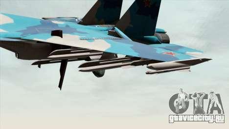 SU-33 Flanker-D Blue Camo для GTA San Andreas вид справа