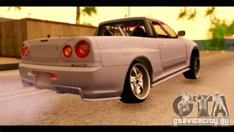 Nissan Skyline R34 для GTA San Andreas вид слева