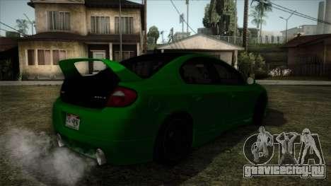 Dodge Neon SRT-4 Custom 2006 для GTA San Andreas вид слева